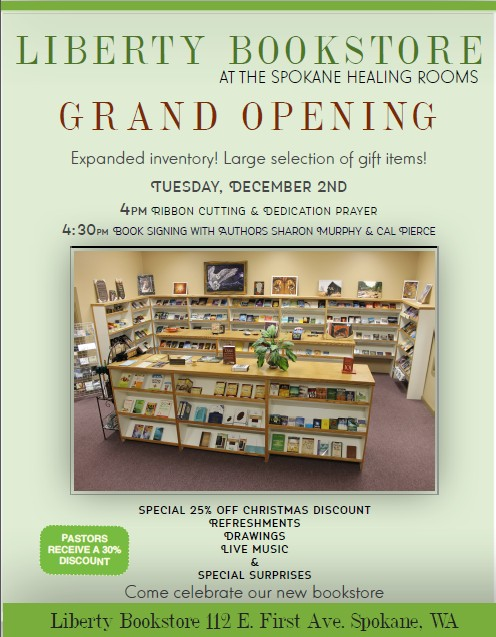 Bookstore Grand Opening flyer